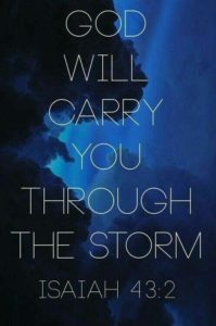 God will carry you through the storm